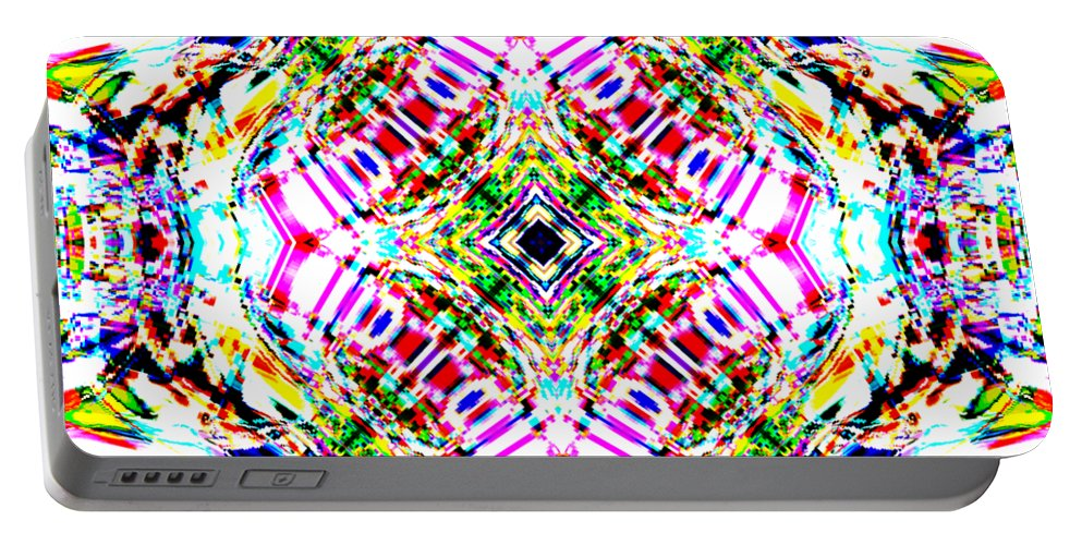 Abstract Portable Battery Charger featuring the digital art Transitor by Blind Ape Art