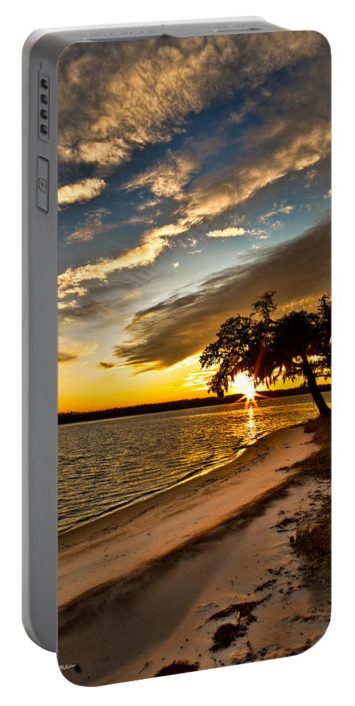 Sunset Portable Battery Charger featuring the photograph Trapped Sunset by Christopher Holmes