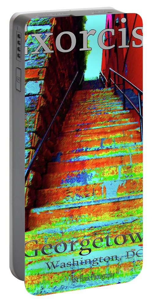 Georgetown Portable Battery Charger featuring the photograph Travel-exorcist Steps by Jost Houk