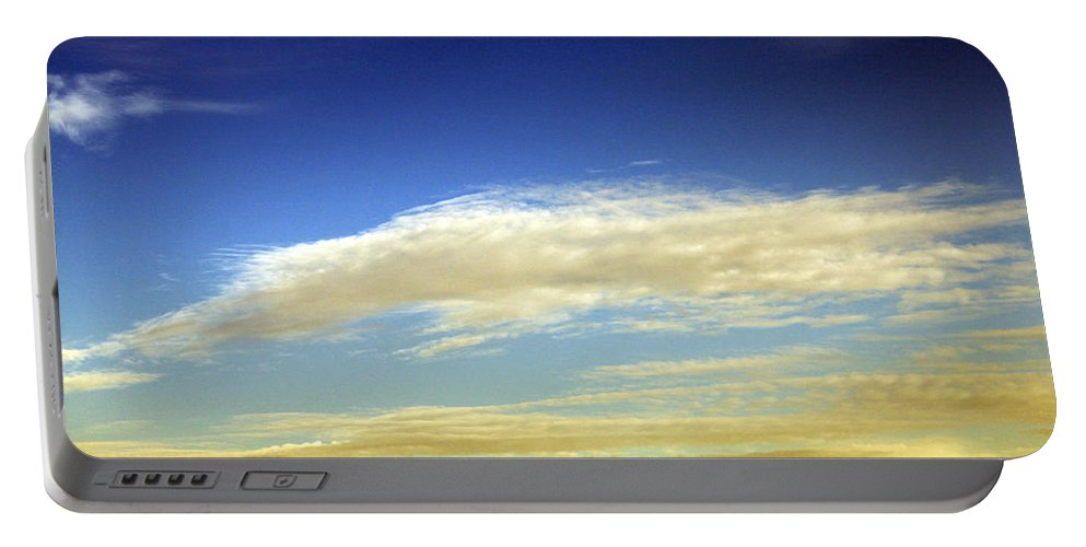 Cloud Portable Battery Charger featuring the photograph Travel Through Clouds by Munir Alawi