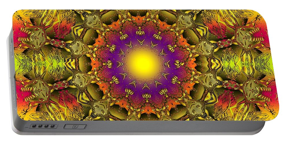 Colorful Portable Battery Charger featuring the digital art Traveling Home by Robert Orinski