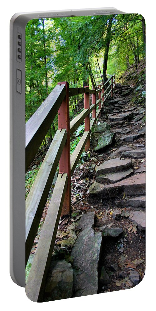 Hike Portable Battery Charger featuring the photograph Treacherous Hike by Kristin Elmquist