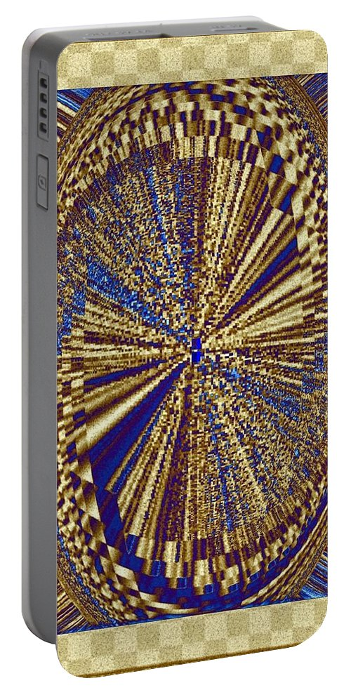 Treasure Trove Portable Battery Charger featuring the digital art Treasure Trove Beyond by Will Borden