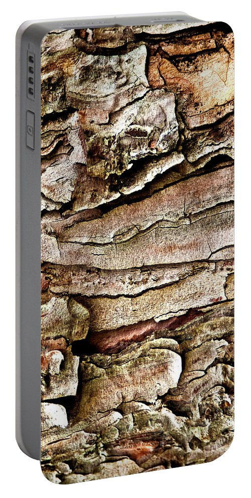Tree Bark Portable Battery Charger featuring the photograph Tree Bark Abstract by Onyonet Photo Studios