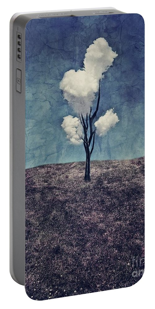 Tree Portable Battery Charger featuring the digital art Tree Clouds 01d2 by Aimelle