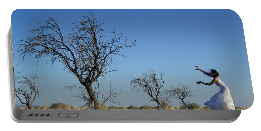 Landscape Portable Battery Charger featuring the photograph Tree Echo by Scott Sawyer