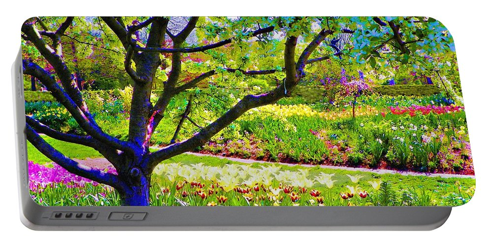 Print On Canvas Portable Battery Charger featuring the painting Tree In Spring by Susanna Katherine