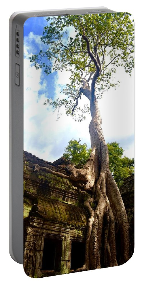 Temple Portable Battery Charger featuring the photograph Tree Of Life by Jane Rachel Mendoza