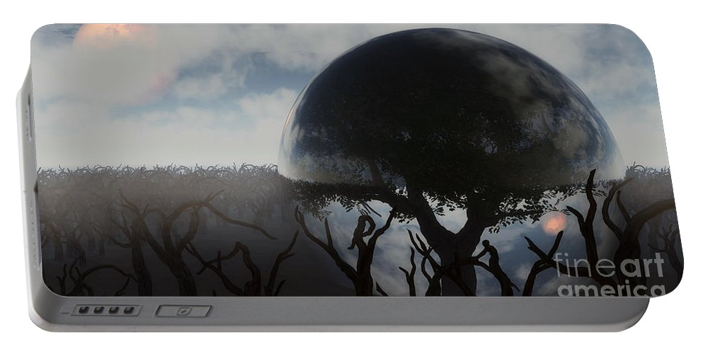 Life Portable Battery Charger featuring the digital art Tree Of Life by Richard Rizzo