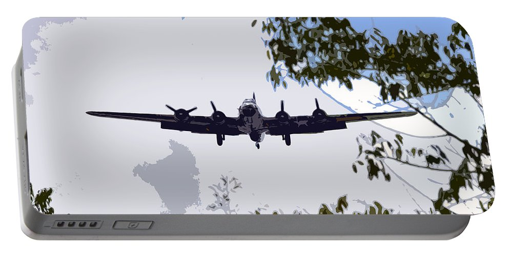 B 17 Portable Battery Charger featuring the photograph Tree Top Fly Er by David Lee Thompson
