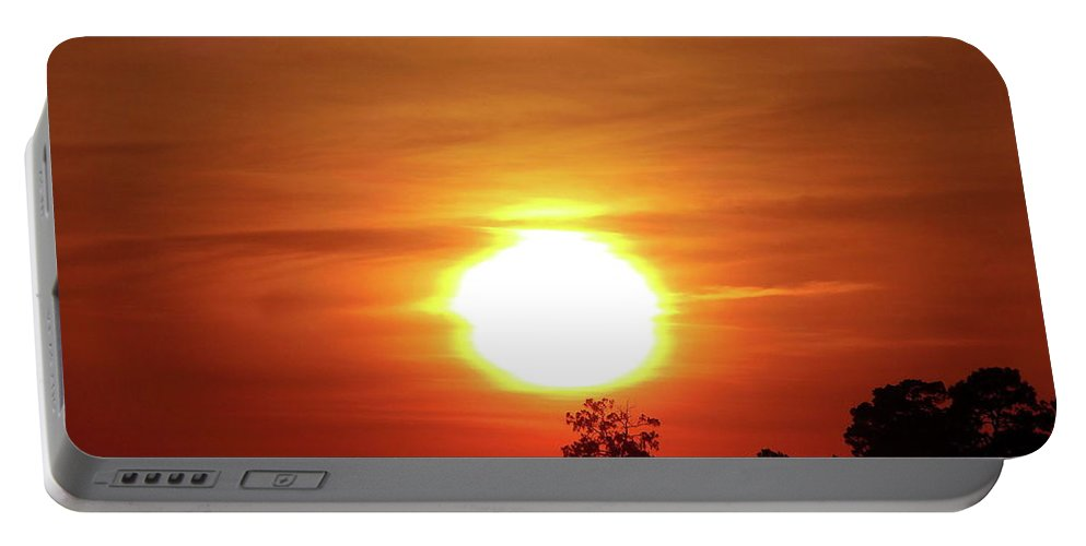 Sunset Portable Battery Charger featuring the photograph Tree Topper by Gina Welch