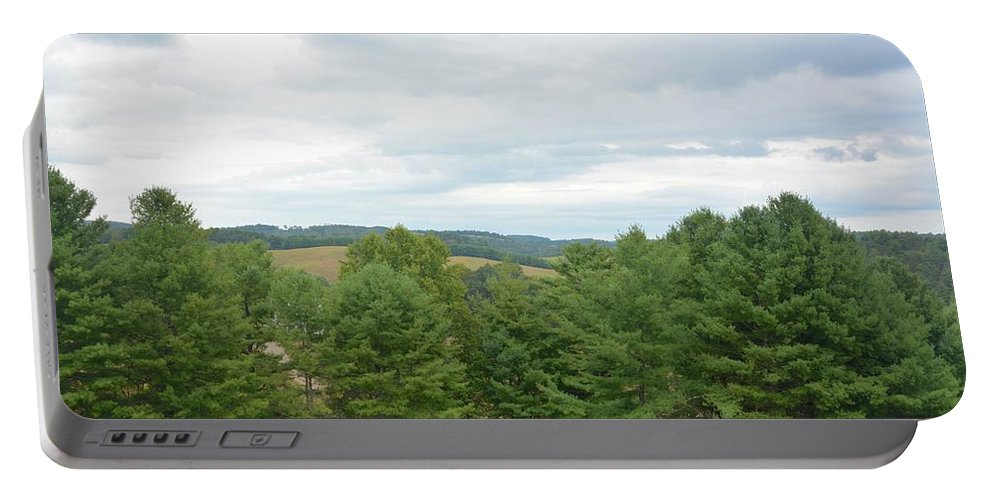 Landscape Portable Battery Charger featuring the photograph Tree Tops by Amy Damron