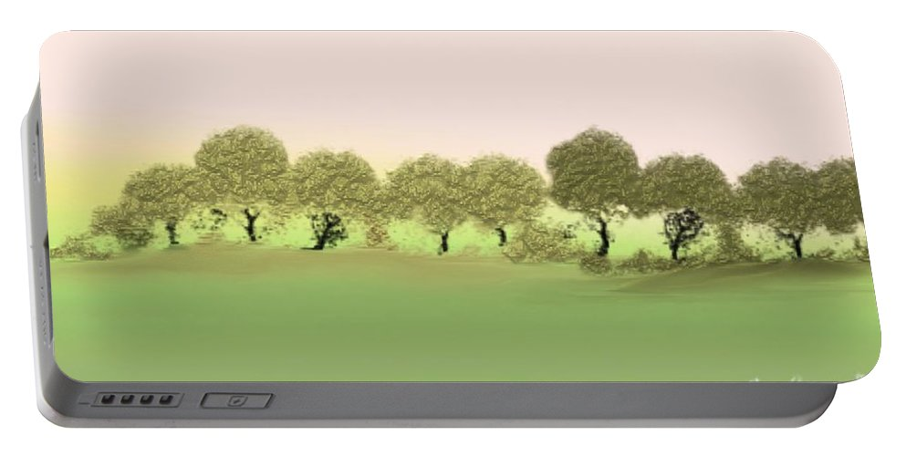 Tree Portable Battery Charger featuring the painting Treeline by Gina Lee Manley
