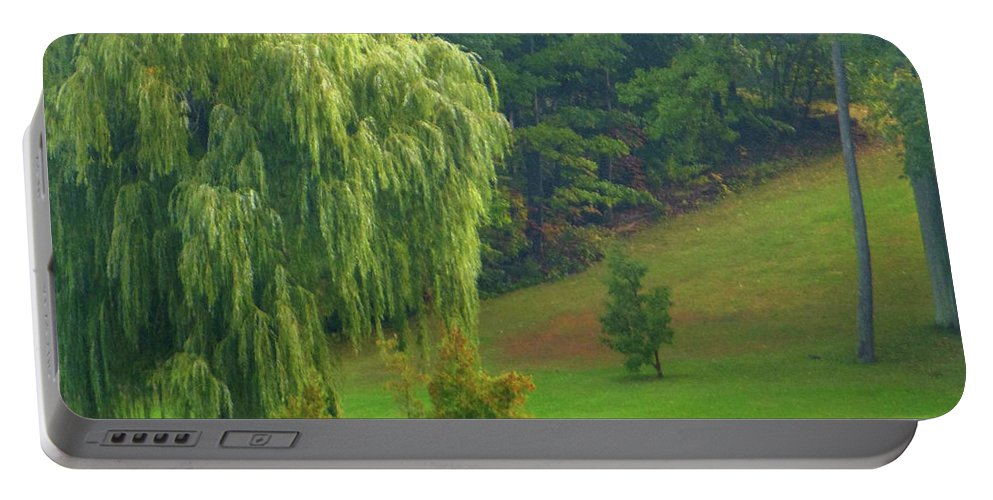 Trees Portable Battery Charger featuring the photograph Trees Along Hill by Rockin Docks Deluxephotos