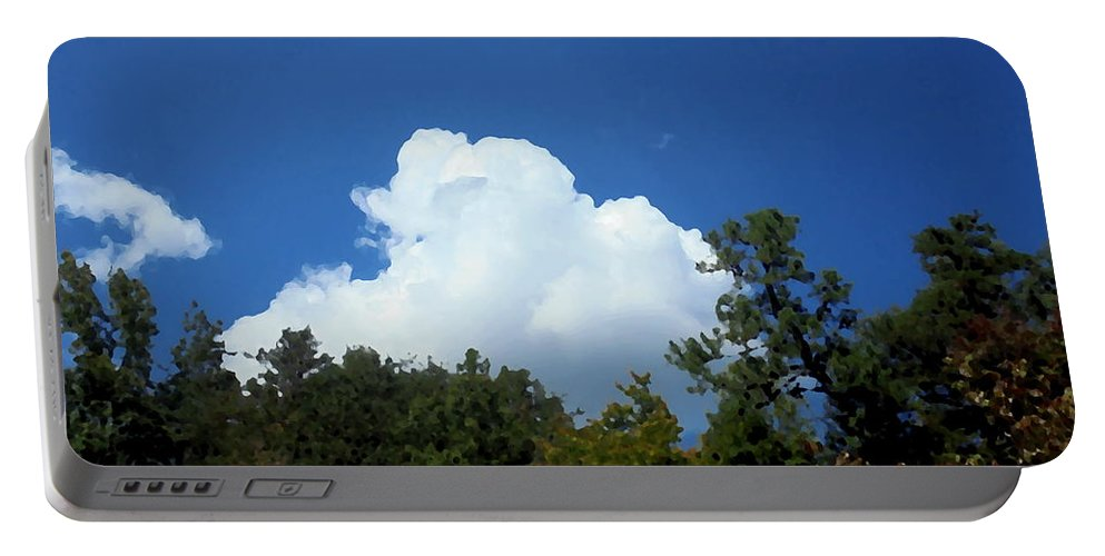Trees Portable Battery Charger featuring the photograph Trees, Clouds, And Sky by Michael Potts