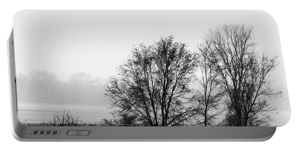 Jay Stockhaus Portable Battery Charger featuring the photograph Trees In The Mist by Jay Stockhaus