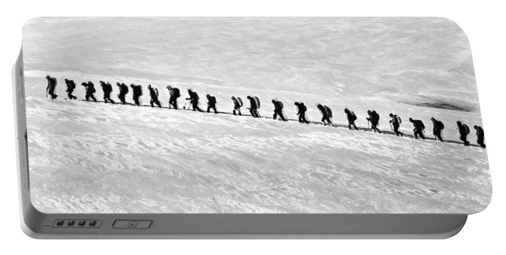 Ice Portable Battery Charger featuring the painting Trekking - Id 16235-142808-3638 by S Lurk