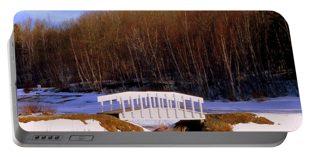 Winter Landscape Portable Battery Charger featuring the photograph Trenton Park - Landscape by Kathleen Sartoris