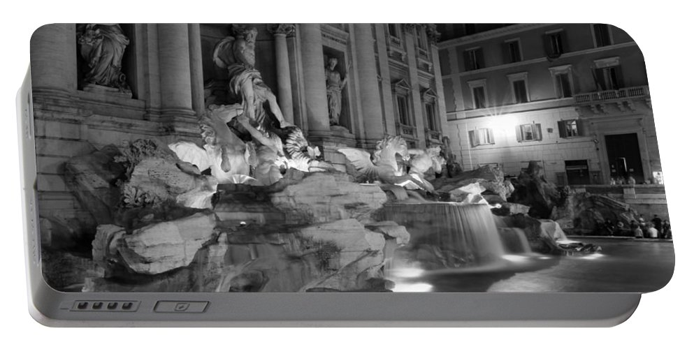 Trevi Fountain Portable Battery Charger featuring the photograph Trevi Fountain Night 2 by Andrew Fare