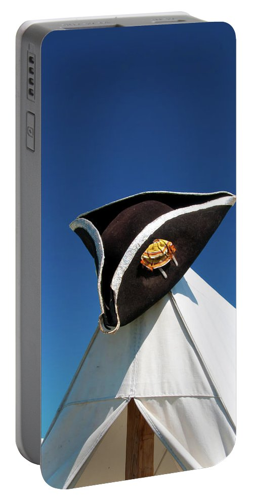 Hat Portable Battery Charger featuring the photograph Tri-cornered Hat 6583 by Guy Whiteley