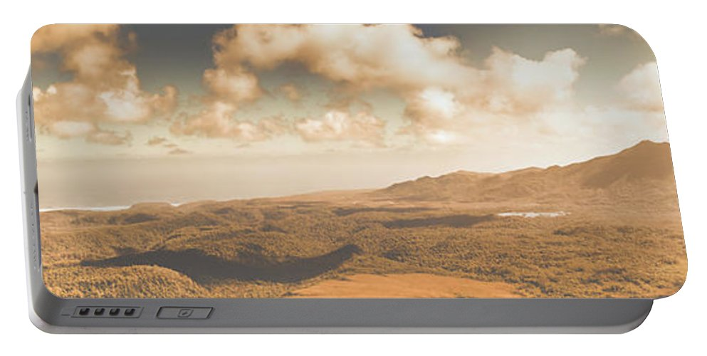 Panoramic Portable Battery Charger featuring the photograph Trial Harbour Landscape Panorama by Jorgo Photography - Wall Art Gallery