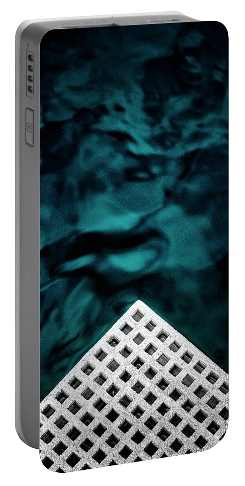 Abstract Portable Battery Charger featuring the photograph Triangular Abstract by Russ Dixon