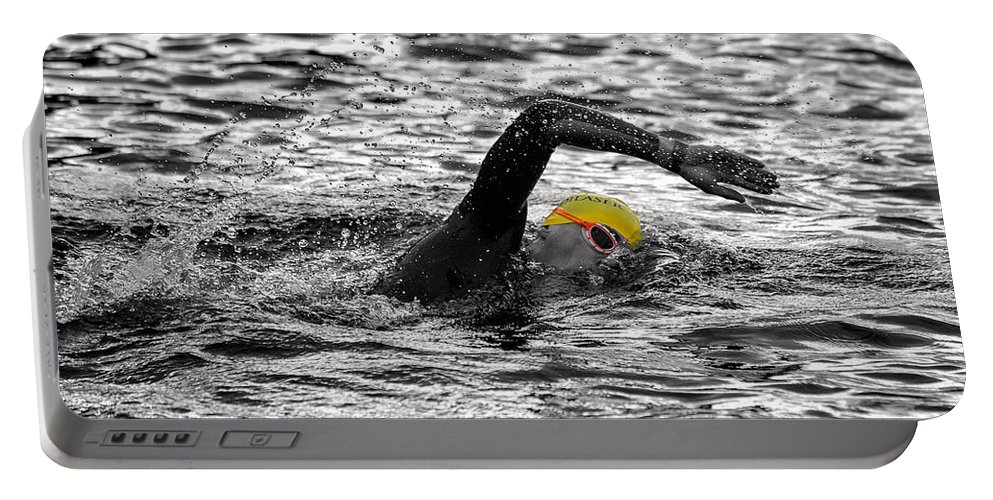 Man Portable Battery Charger featuring the photograph Triathlon Swimmer by Ari Salmela