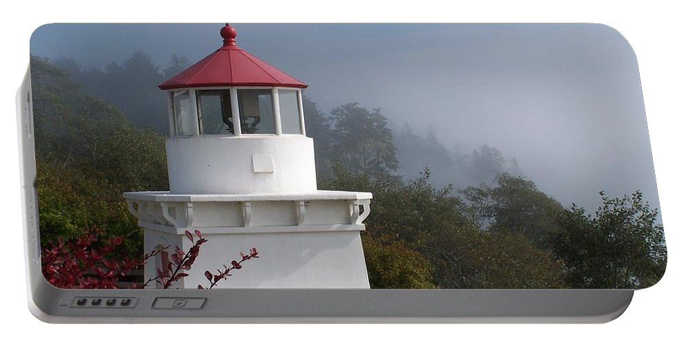 Lighthouse Portable Battery Charger featuring the photograph Trinidad Head Lighthouse by Gale Cochran-Smith