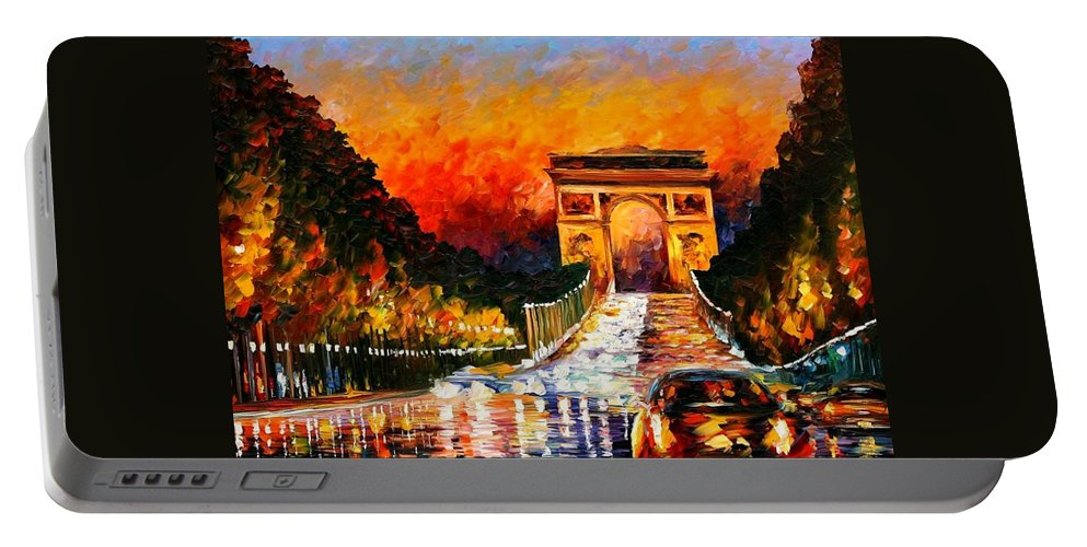 Afremov Portable Battery Charger featuring the painting Triumph by Leonid Afremov