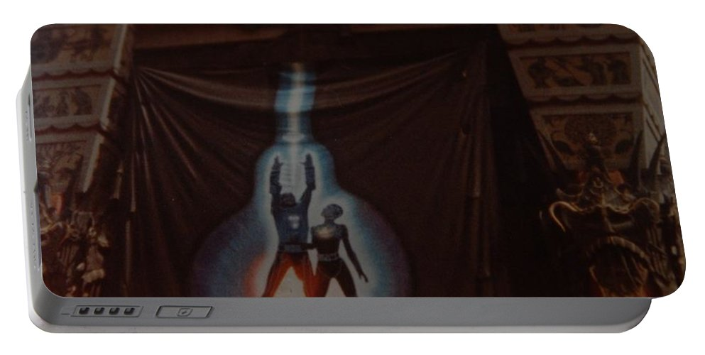 Grumanns Chinese Theater Portable Battery Charger featuring the photograph Tron by Rob Hans