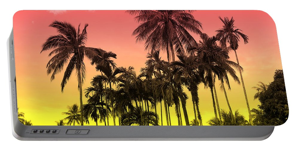 Portable Battery Charger featuring the photograph Tropical 9 by Mark Ashkenazi