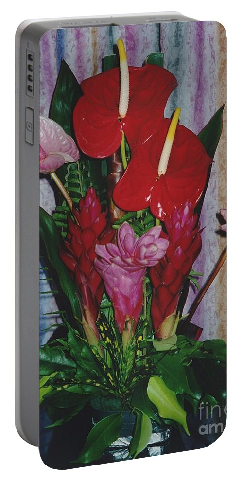Flowers Portable Battery Charger featuring the photograph Tropical Caribbean Flowers by Michelle Powell