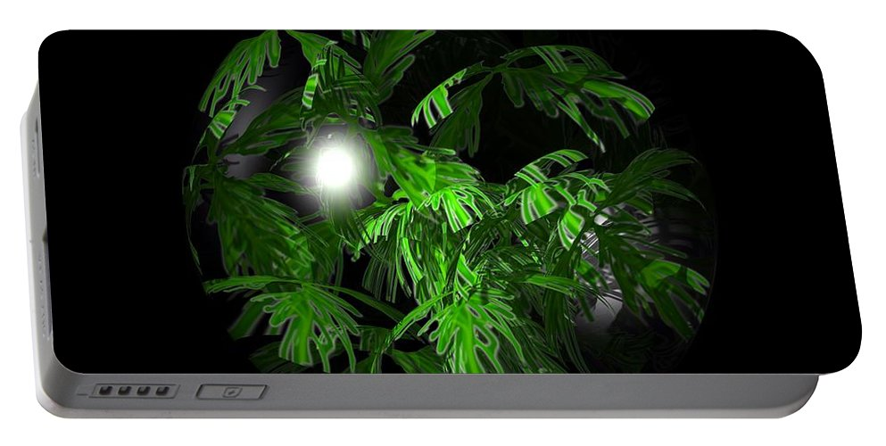 Foliage Portable Battery Charger featuring the digital art Tropical Depression by Robert Orinski