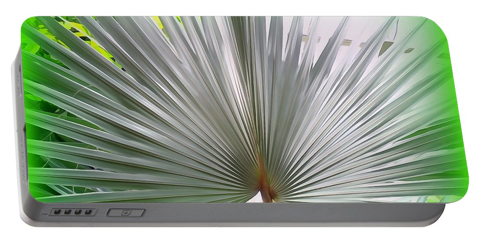 Digital Portable Battery Charger featuring the photograph Tropical Fan by Ed Weidman