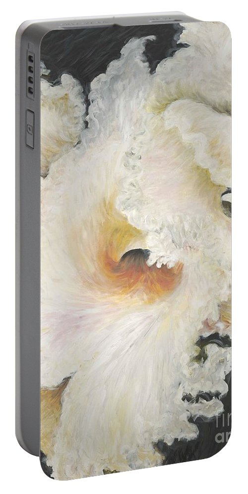 Flower Portable Battery Charger featuring the painting Tropical Flowers by Nadine Rippelmeyer