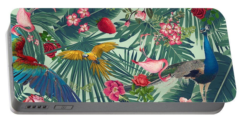 Summer Portable Battery Charger featuring the photograph Tropical Fun Time by Mark Ashkenazi