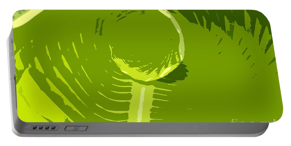 Green Portable Battery Charger featuring the digital art Tropical Green by David Lee Thompson