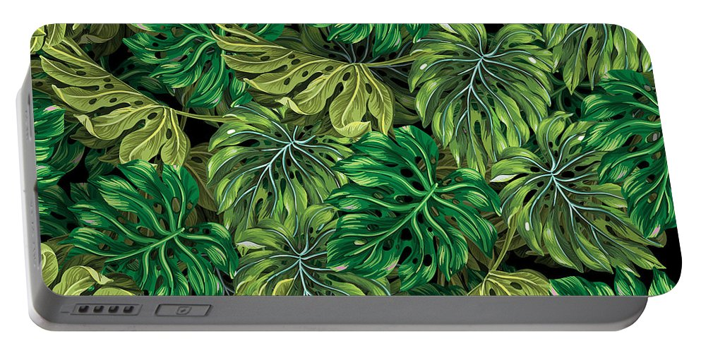 Summer Portable Battery Charger featuring the photograph Tropical Haven 2 by Mark Ashkenazi