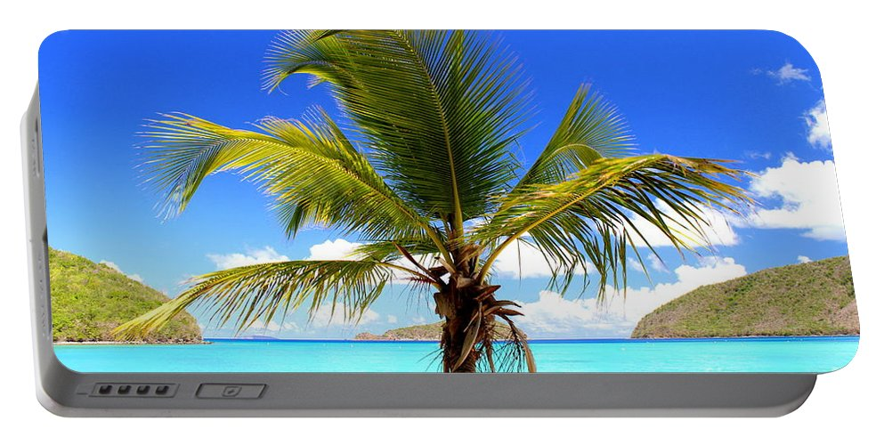 Maho Bay Portable Battery Charger featuring the photograph Tropical Island by Fiona Kennard