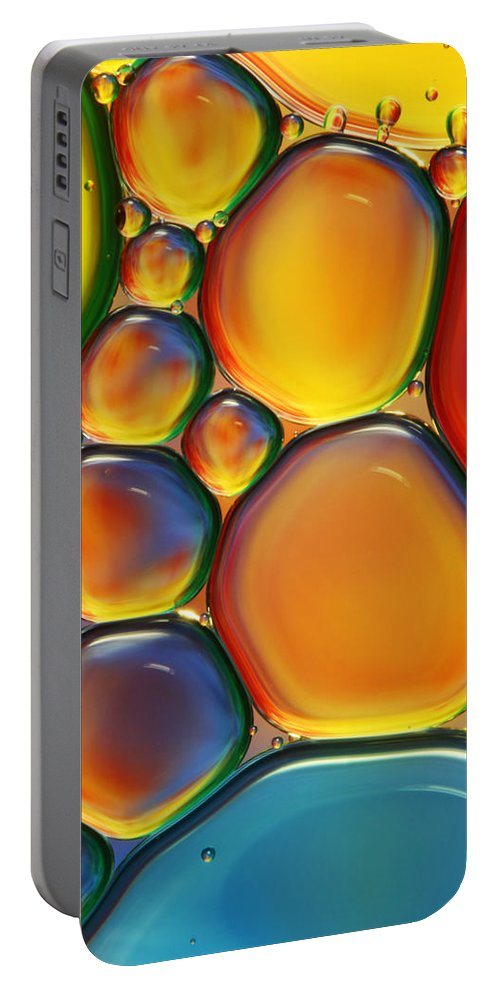 Oil Portable Battery Charger featuring the photograph Tropical Oil And Water II by Sharon Johnstone
