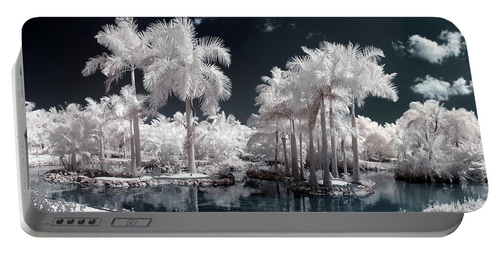 3scape Photos Portable Battery Charger featuring the photograph Tropical Paradise Infrared by Adam Romanowicz