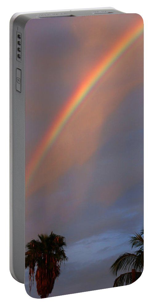 Photography Portable Battery Charger featuring the photograph Tropical Rainbow by Susanne Van Hulst