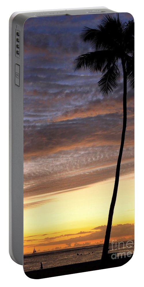 Tropical Portable Battery Charger featuring the photograph Tropical Silhouette by DJ Florek