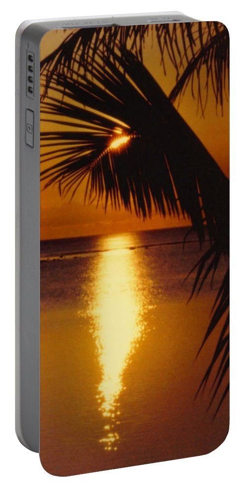 Palm Trees Portable Battery Charger featuring the photograph Tropical Sunset by Dina Holland