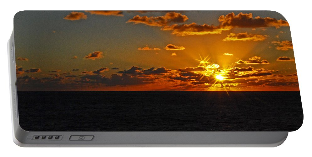 Sunset Portable Battery Charger featuring the photograph Tropical Sunset by Gary Wonning