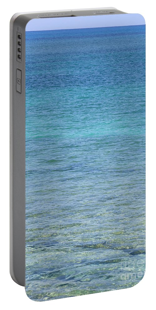 Water Portable Battery Charger featuring the photograph Tropical Waters by Anthony Totah