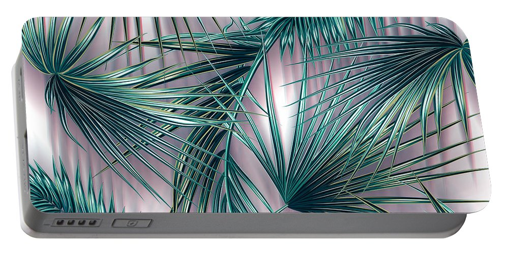 Summer Portable Battery Charger featuring the digital art Tropicana by Mark Ashkenazi