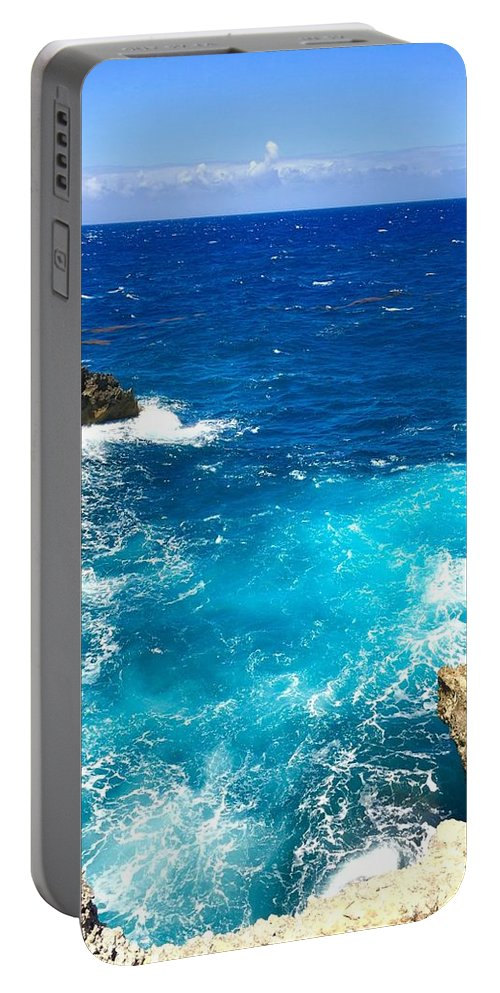 Guadeloupe Portable Battery Charger featuring the photograph Trou Madame Coco, Grande Terre, Guadeloupe by Cristina Stefan