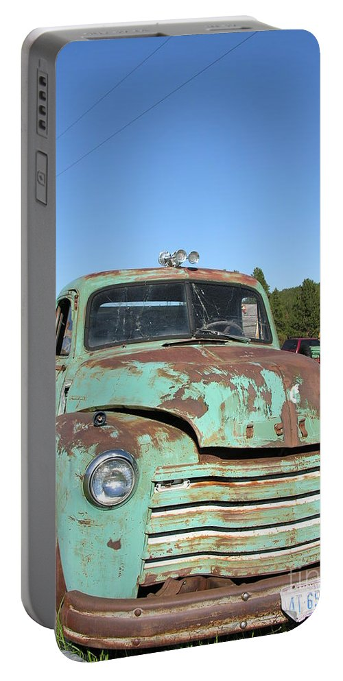 Truck Portable Battery Charger featuring the photograph Truck Montana by Diane Greco-Lesser