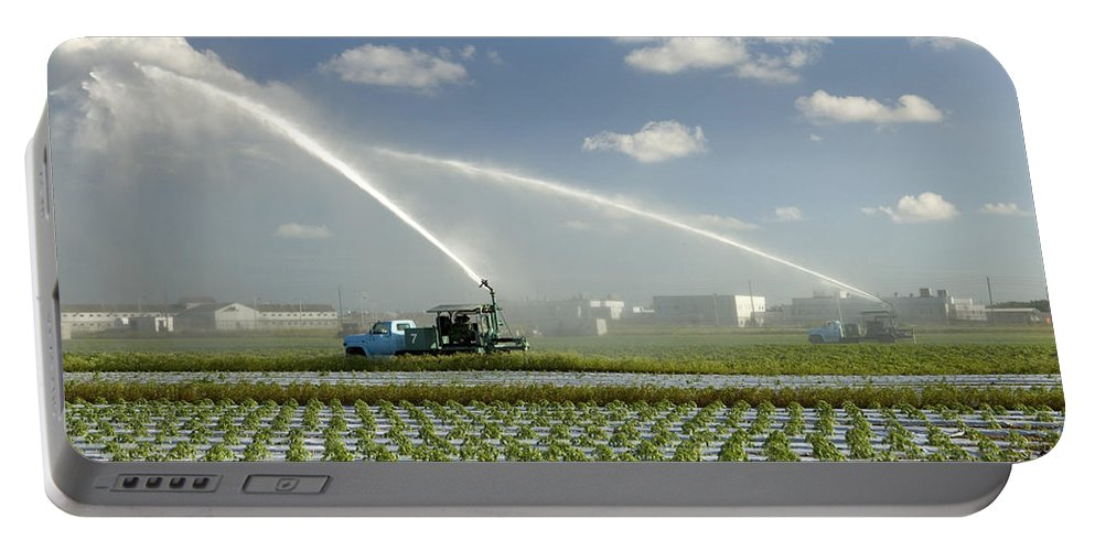 Truck Mounted Irrigation Portable Battery Charger featuring the photograph Truck Mounted Irrigation by Inga Spence